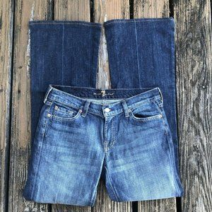 Seven 7 For All Mankind Jeans 30 Blue Denim Flare